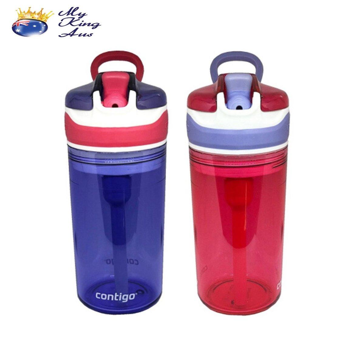 Contigo兒童零食防漏吸管杯兩個裝(紫粉色套裝)