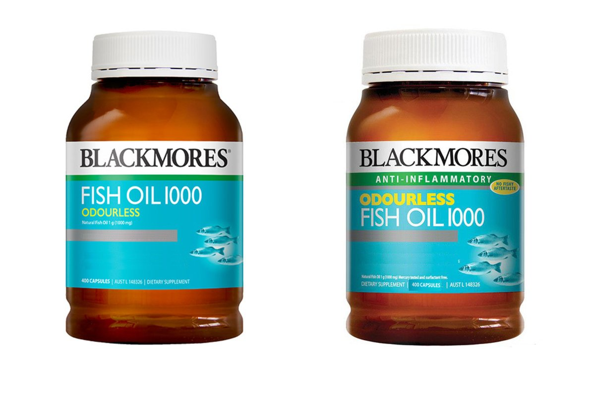 Odourless Fish Oil 1000mg 400cap