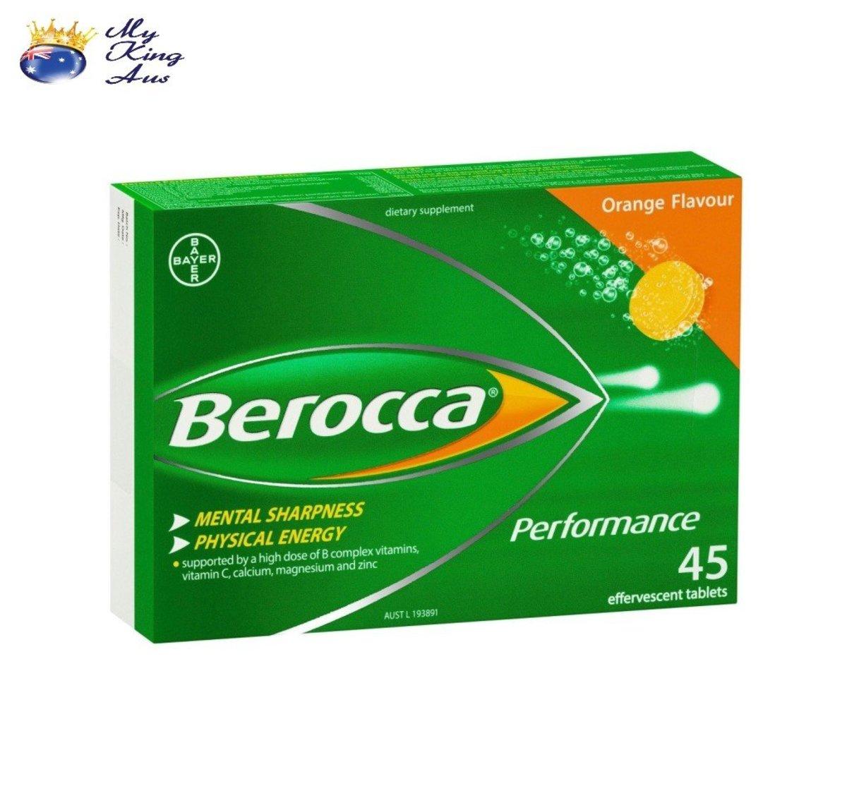 Berocca Energy Vitamin Orange Effervescent - 45 Tablets