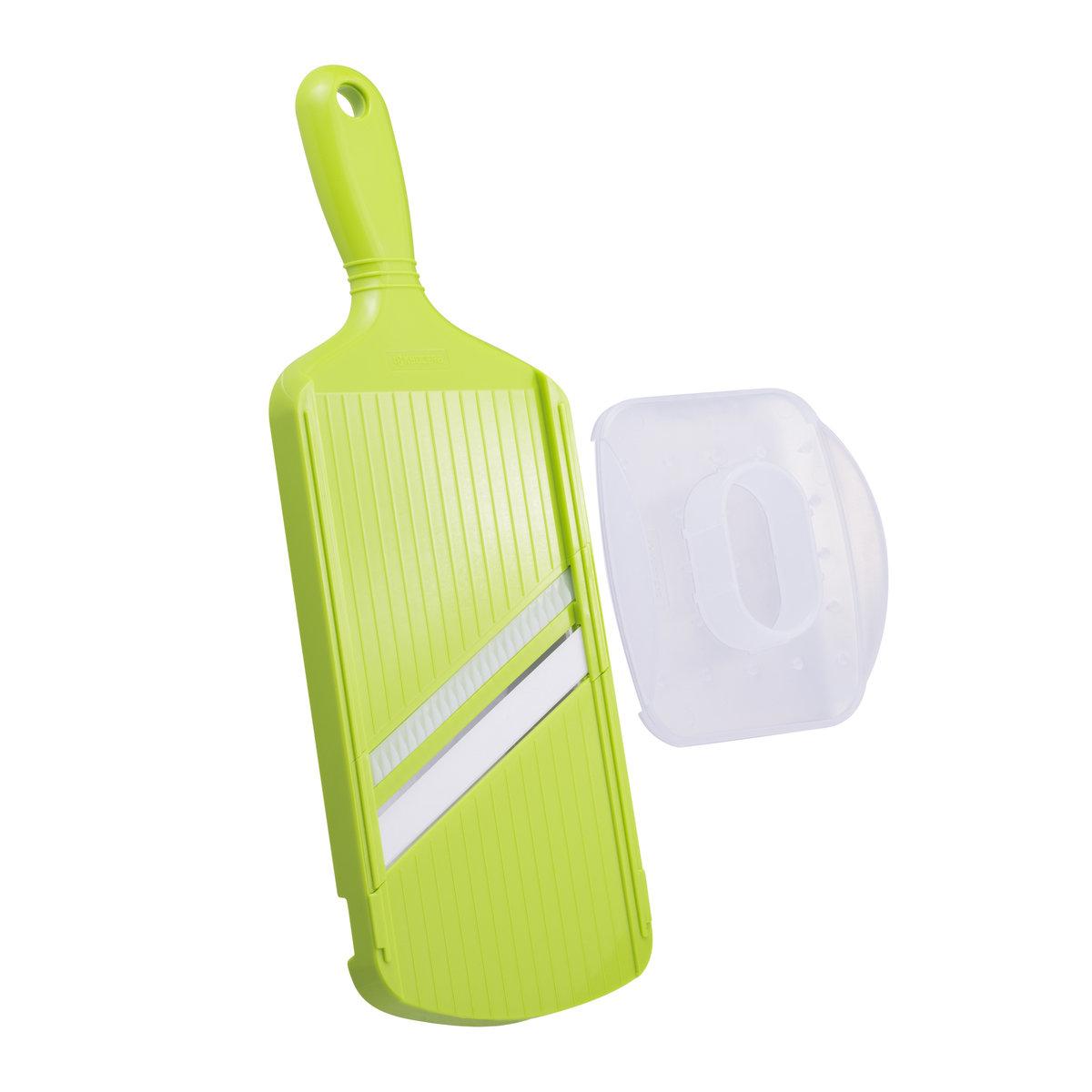 Ceramic Wide Julienne Slicer with Handguard (Green)