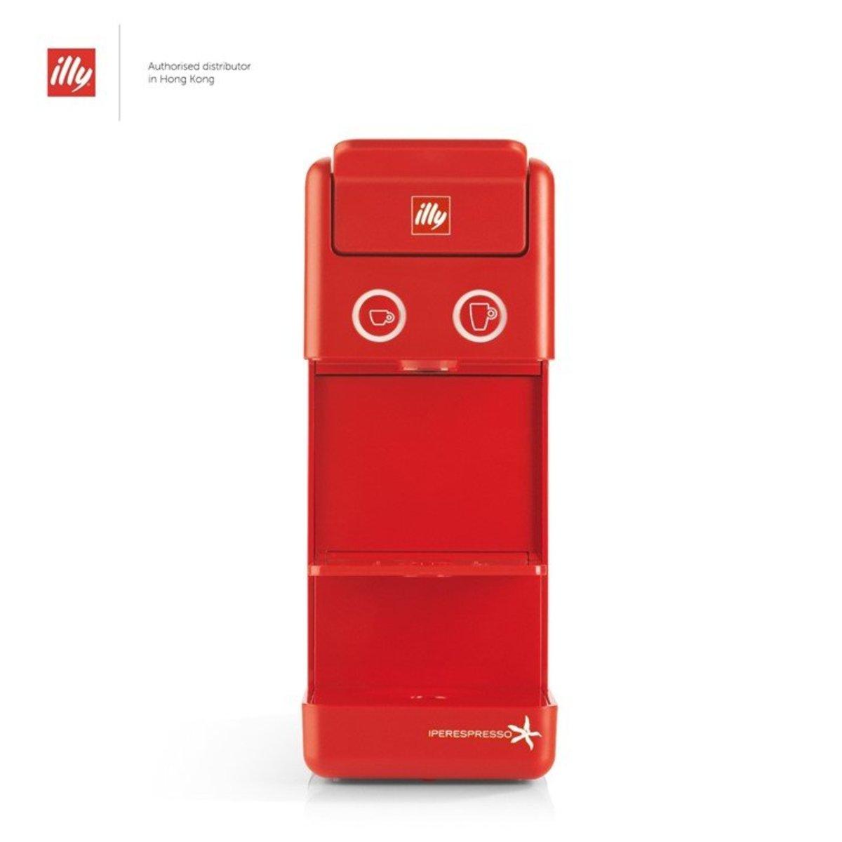 Y3.2 E&C Iperespresso Home Espresso & Coffee Capsule Machine - Red