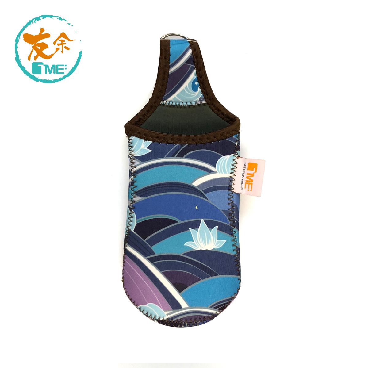 水壺袋-波浪/藍色