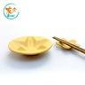 手工紫砂櫻花醬油碟套裝 - 段泥/黃色