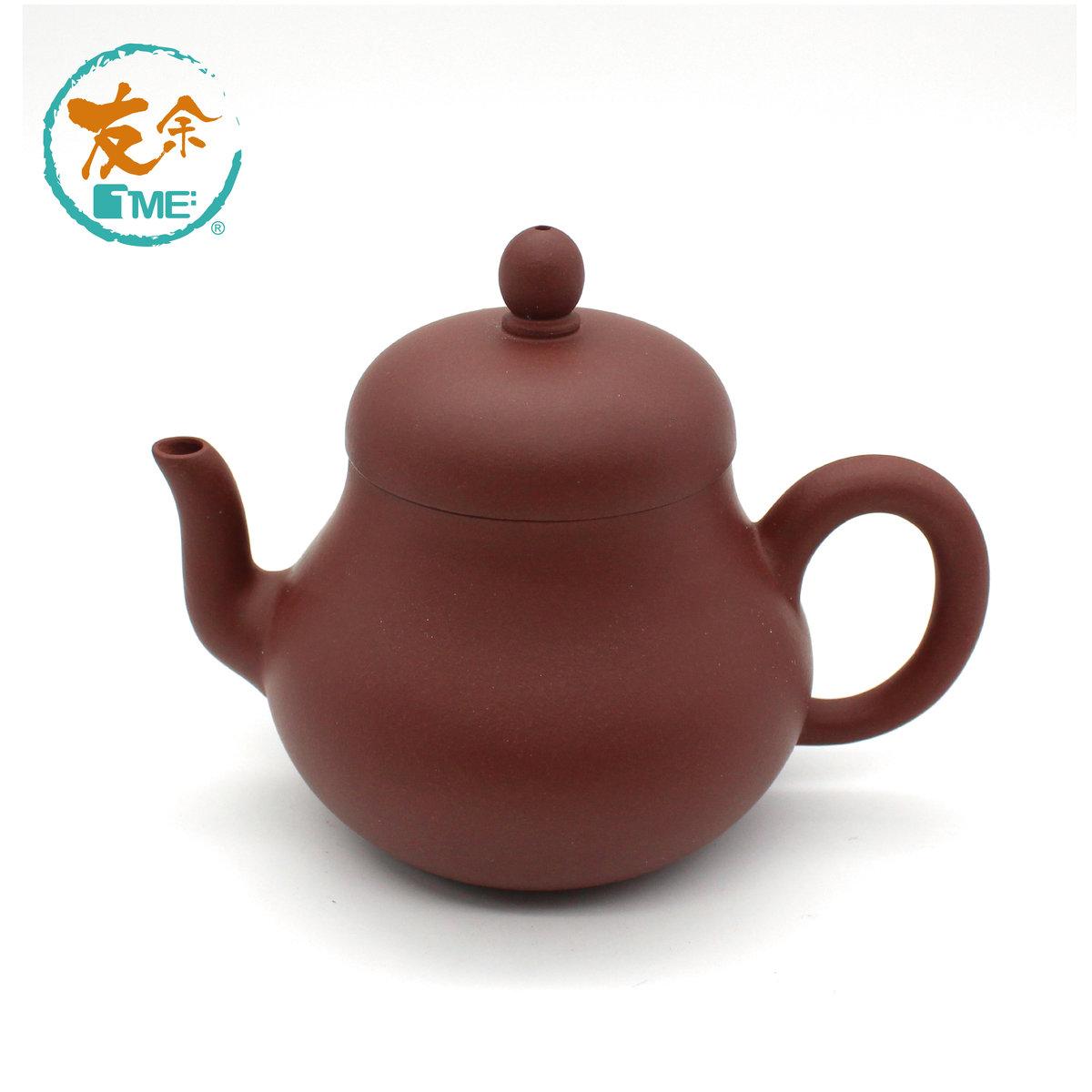 手工紫砂沖茶壺 -230毫升(清水泥/紅色)