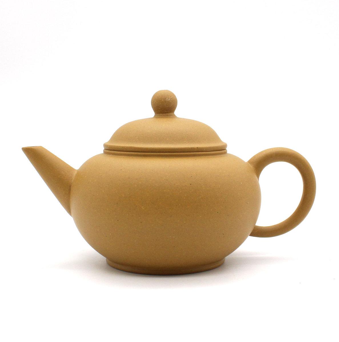 友余手工紫砂沖茶壺-200毫升(段泥/黃色)