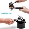 DREAMFARM 咖啡愛好者套裝 - 敲三下咖啡渣筒/精準聰明刻度量匙-黑