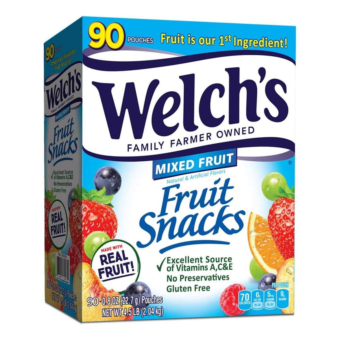 Welch's 多種維他命 雜果 軟糖 大盒裝 (90小包) 034856890089