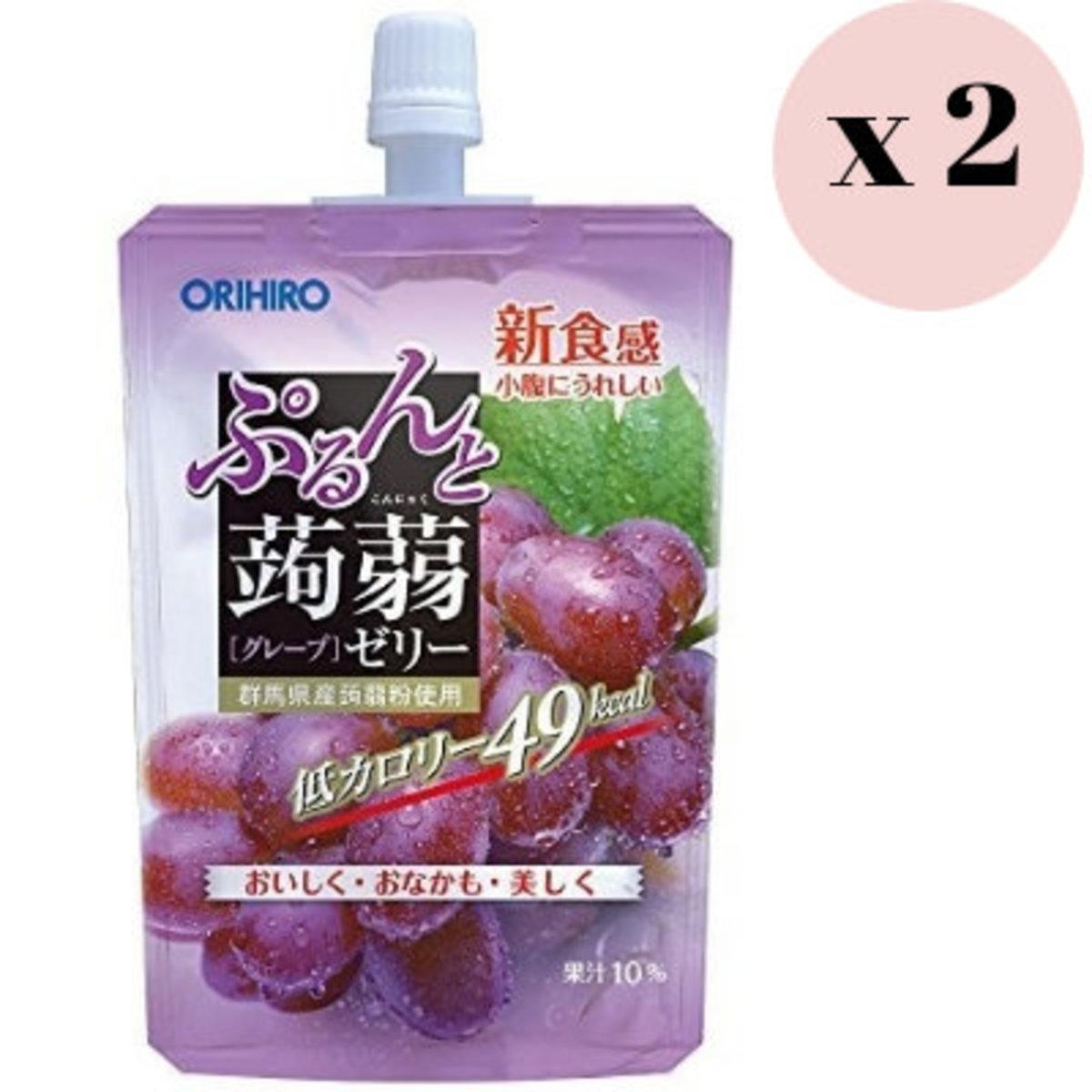 蒟蒻 紫葡萄味 啫喱 支裝 130g x 2包 4571157254289