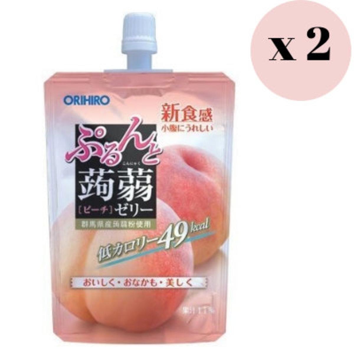 蒟篛 水蜜桃味 啫喱, 支裝 130g x 2包 4571157254296