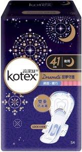 Kotex 甜夢守護 纖巧網面 衛生巾 夜用 41cm 5片