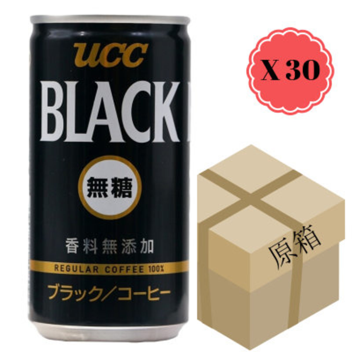 [Full Case] Sugar Free Black Coffee 185g x 30 (4901201208096)