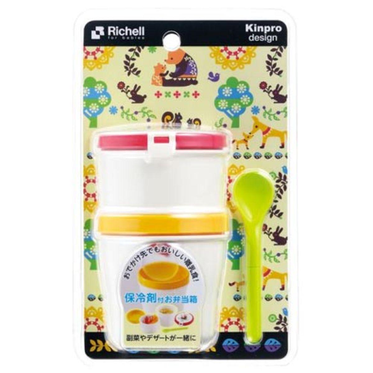 Kinpro 嬰兒食物盒連匙 ( 100 + 150ml )