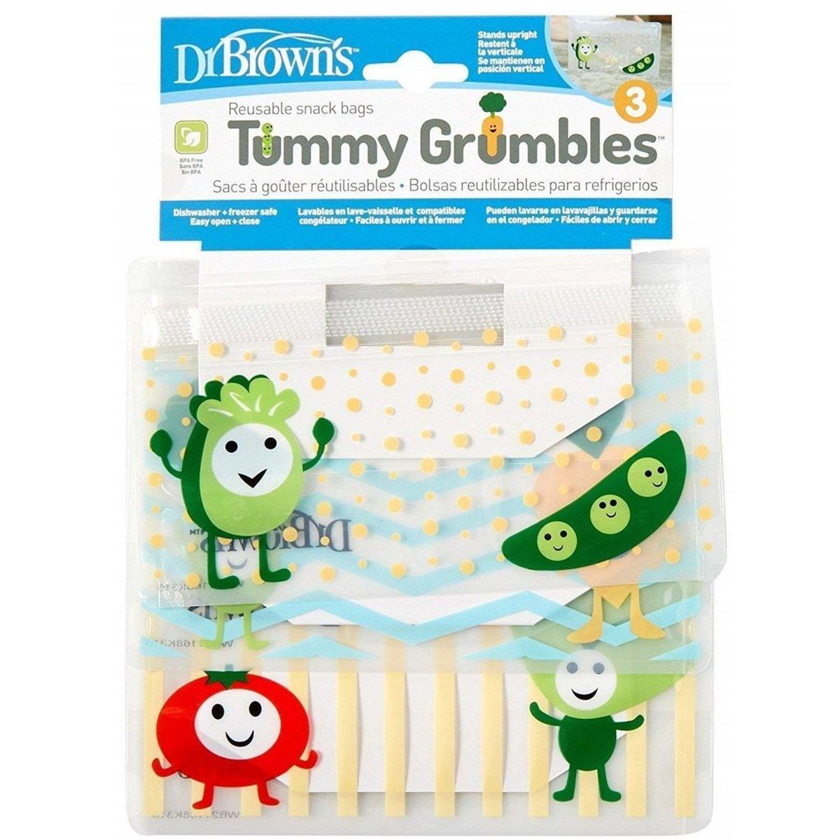 Tummy 可重複用零食袋 (3個) (72239308424) (平行進口)