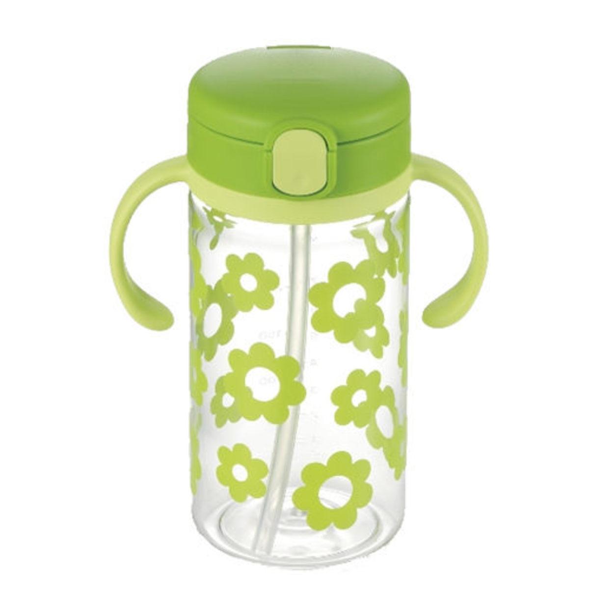 Richell 7個月起嬰兒 吸管式飲水杯 320ml (綠色) 4973655202425