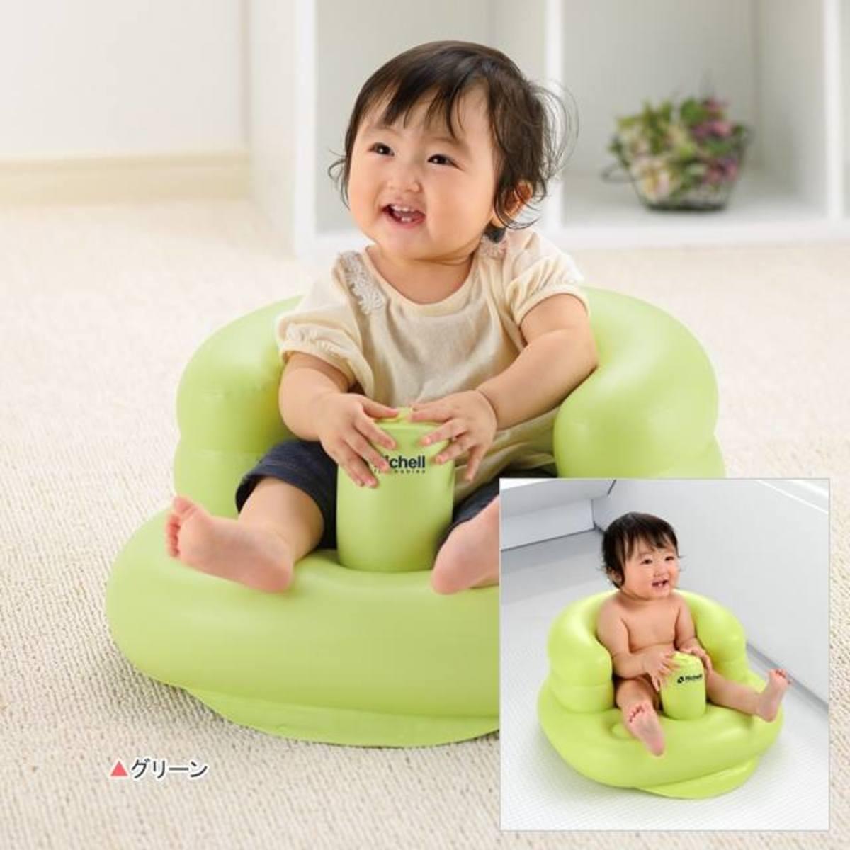 Richell 充氣座椅(綠色)
