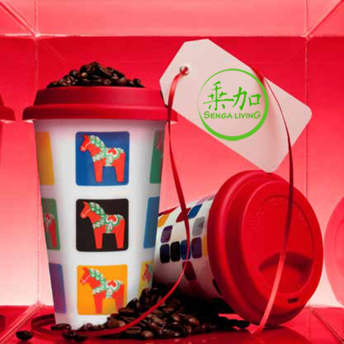 Sweden takeaway mug with silicone lid