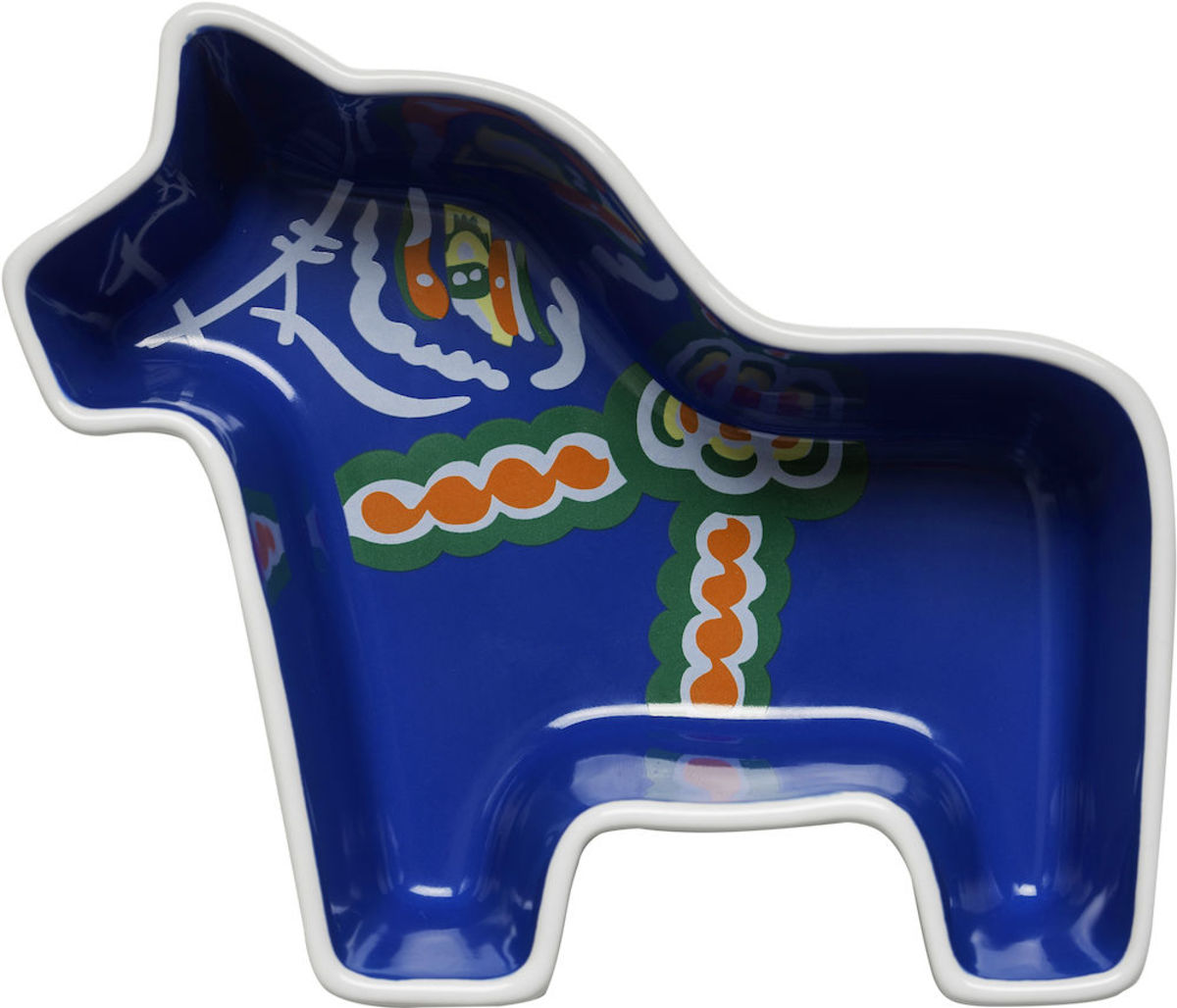 Dala horse serving bowl small