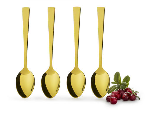 Spoons 4-pack, gold-coloured