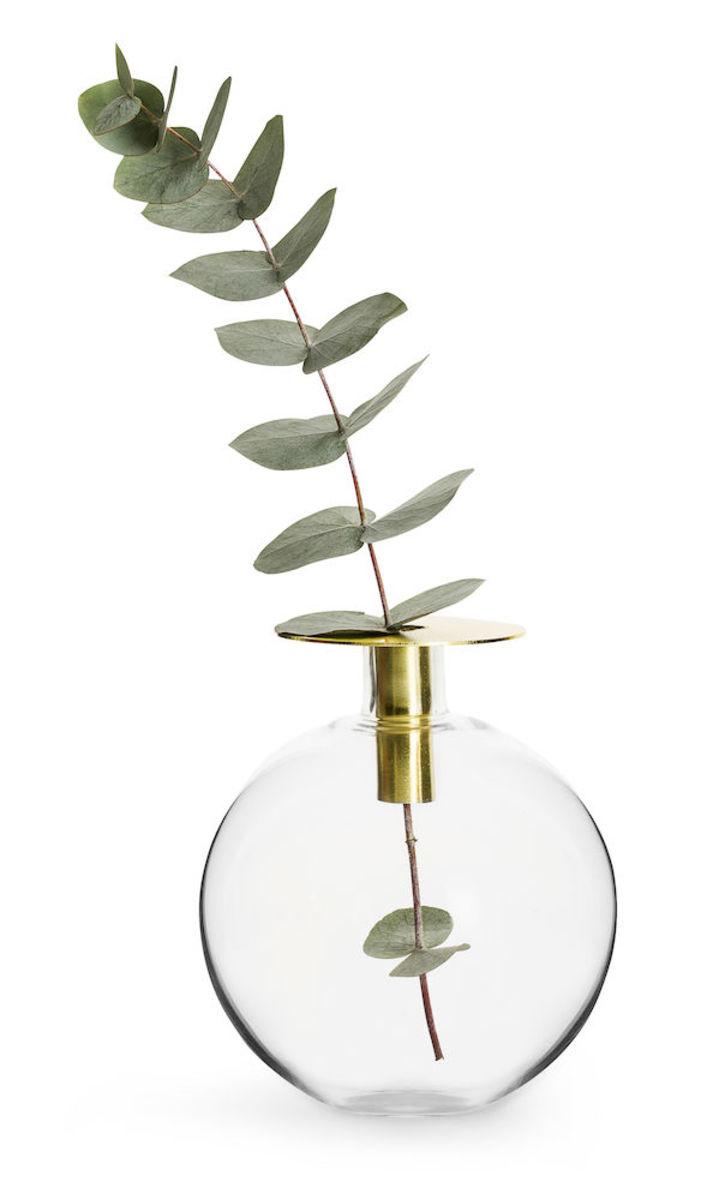 金色花瓶/蠟燭座