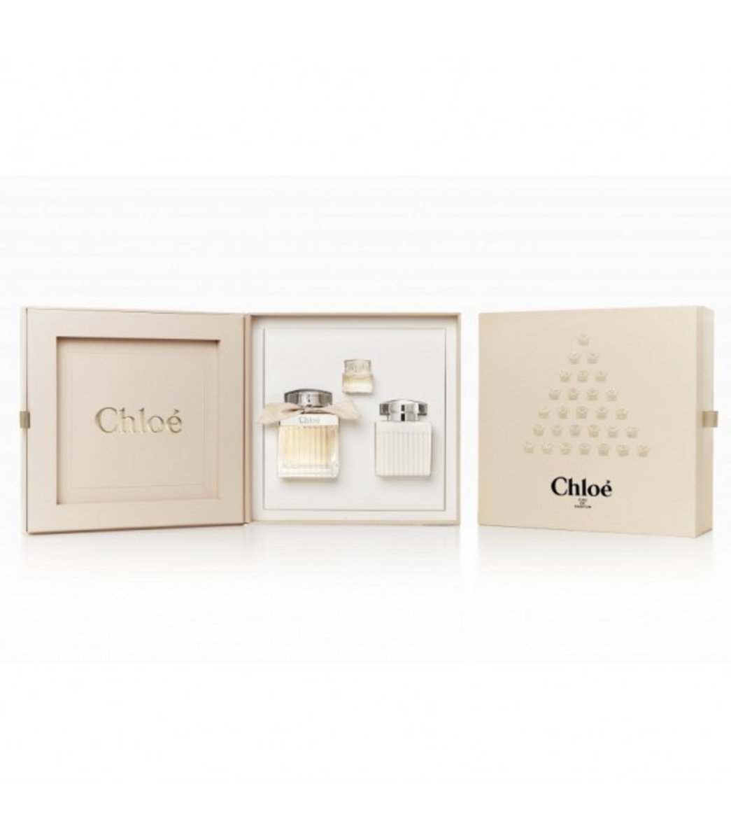 Chloe Les Parfums Set: EDP 75ml, Body Lotion 100ml, EDP 5ml [Parallel Import]
