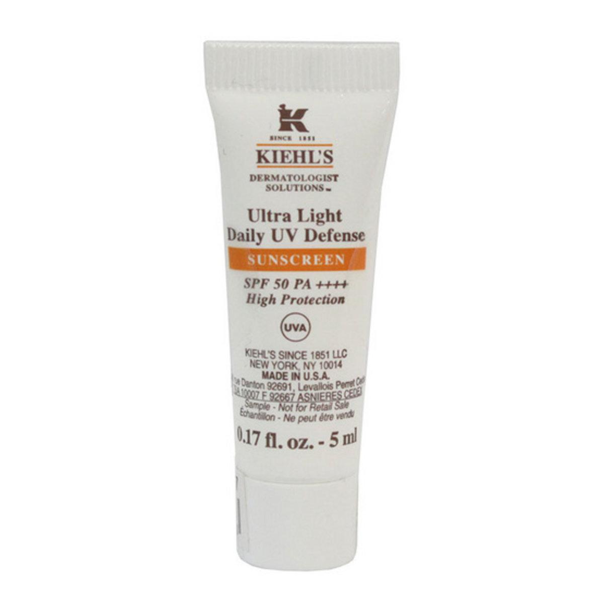Kiehl's - Ultra Light Daily UV Defense SPF 50 PA+++ UVA 5ml ( Tube ) [Parallel Import]