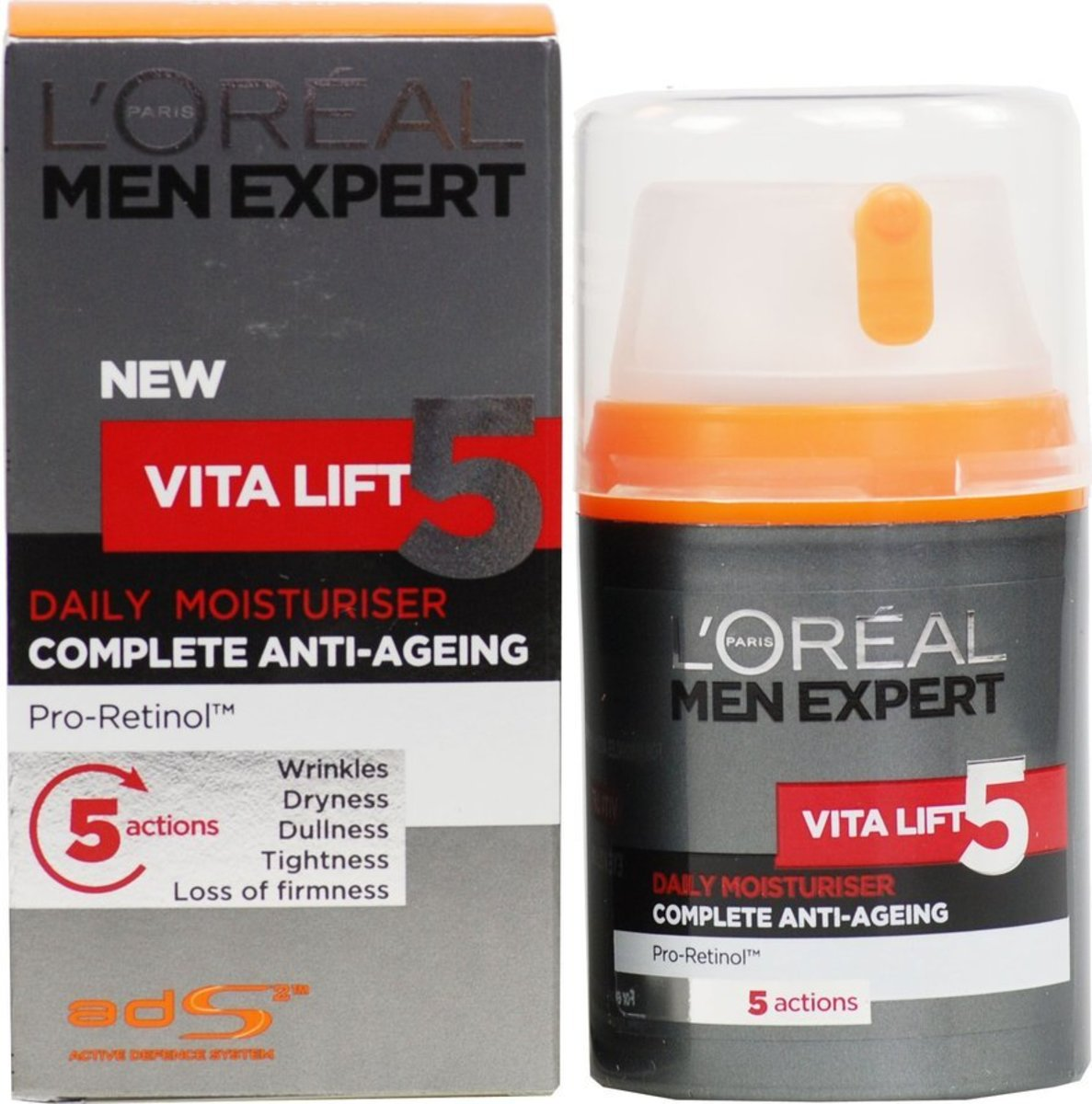 Men Expert Vita Lift 5 Complete Daily Moisturiser 50ml old/new package randomly [Parrallel Import]