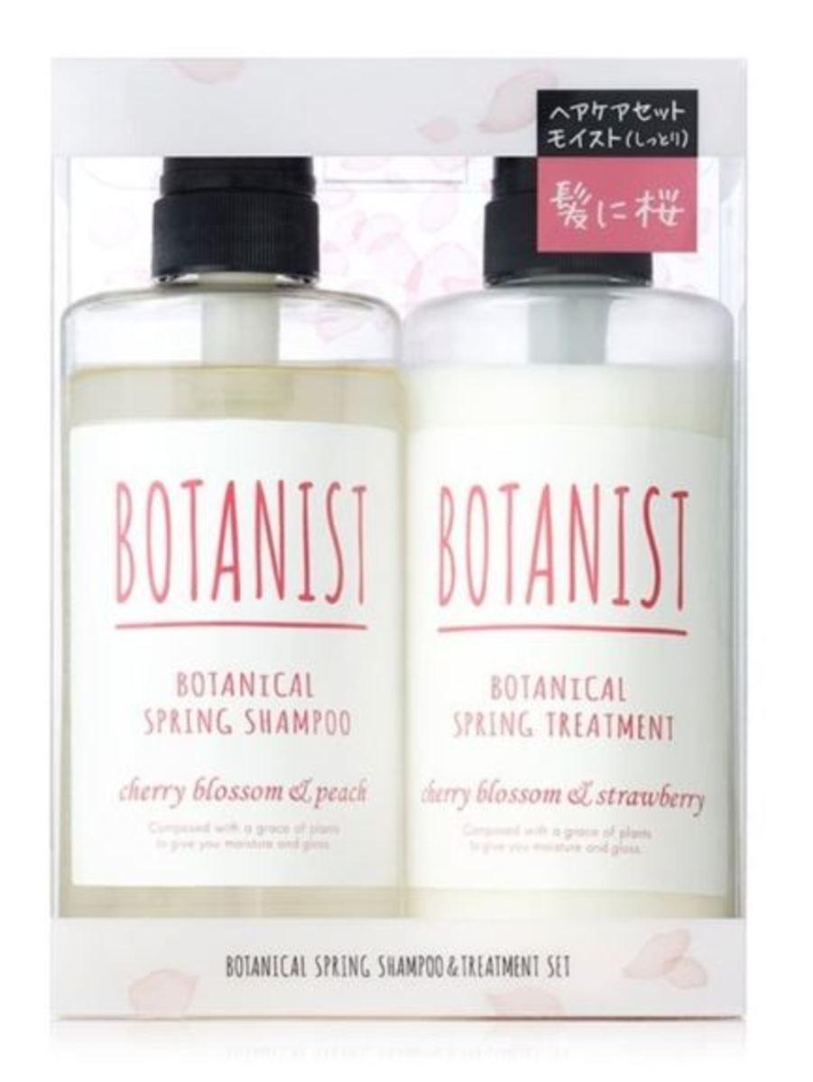 Botanical Spring Shampoo Conditioner Set 490mlx2 Moist Cherry Blossom Peach & Strawberry (Sakura Limited Edition) [Parallel Import]