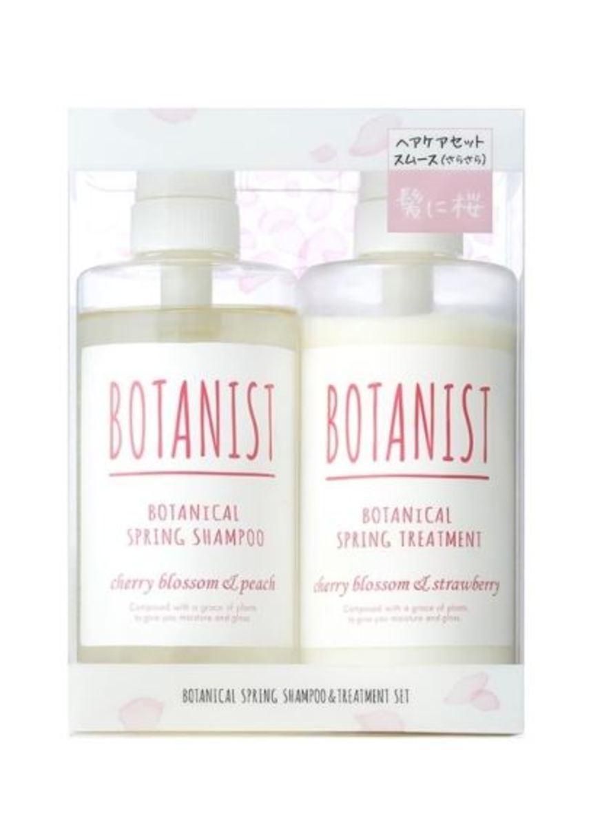 Botanical Spring Shampoo Conditioner Set 490mlx2 Smooth Cherry Blossom Peach & Strawberry (Sakura Limited Edition) [Parallel Import]