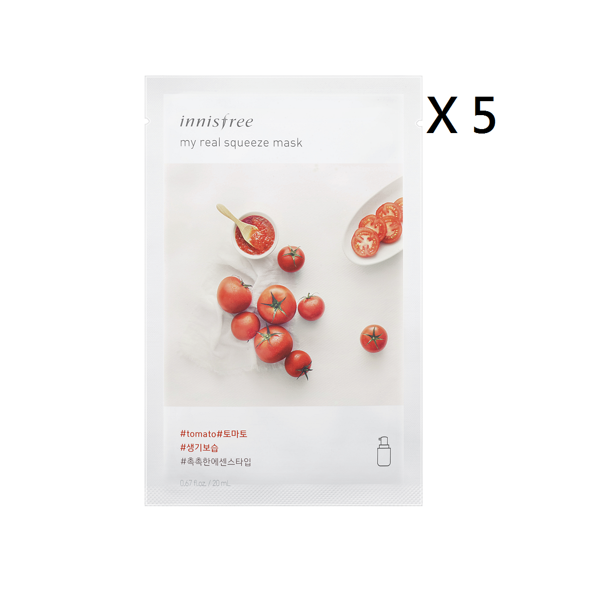My Real Squeeze Mask -Tomato (5pcs)