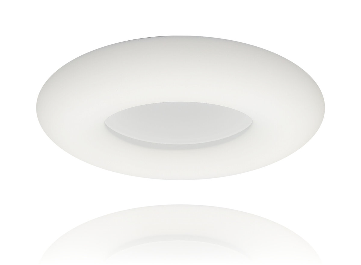 Ceiling 2973 White - LED 18+18W -  3 sections colour - lighting