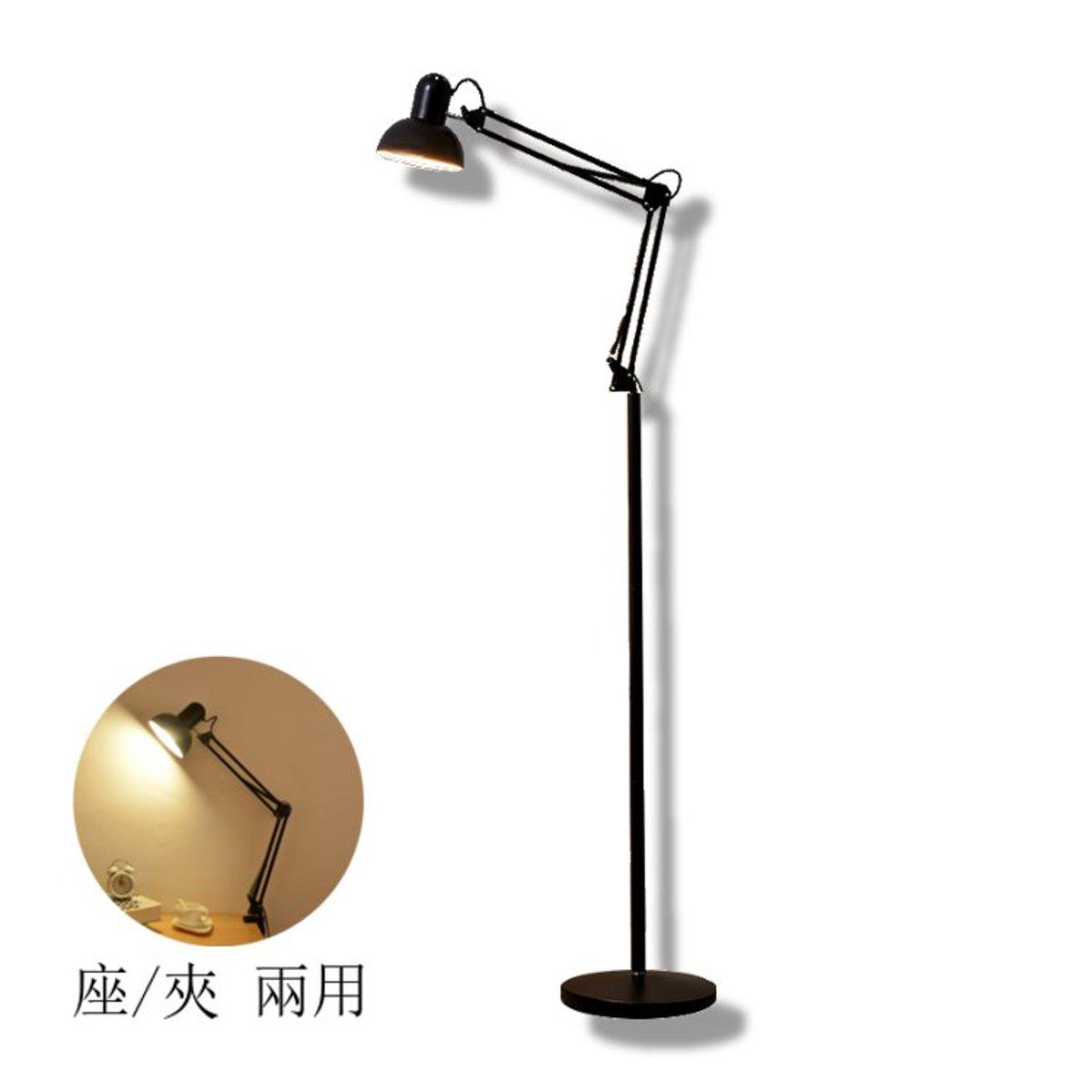 Floor/Clamp  Lamp 930 black - E27 x 1