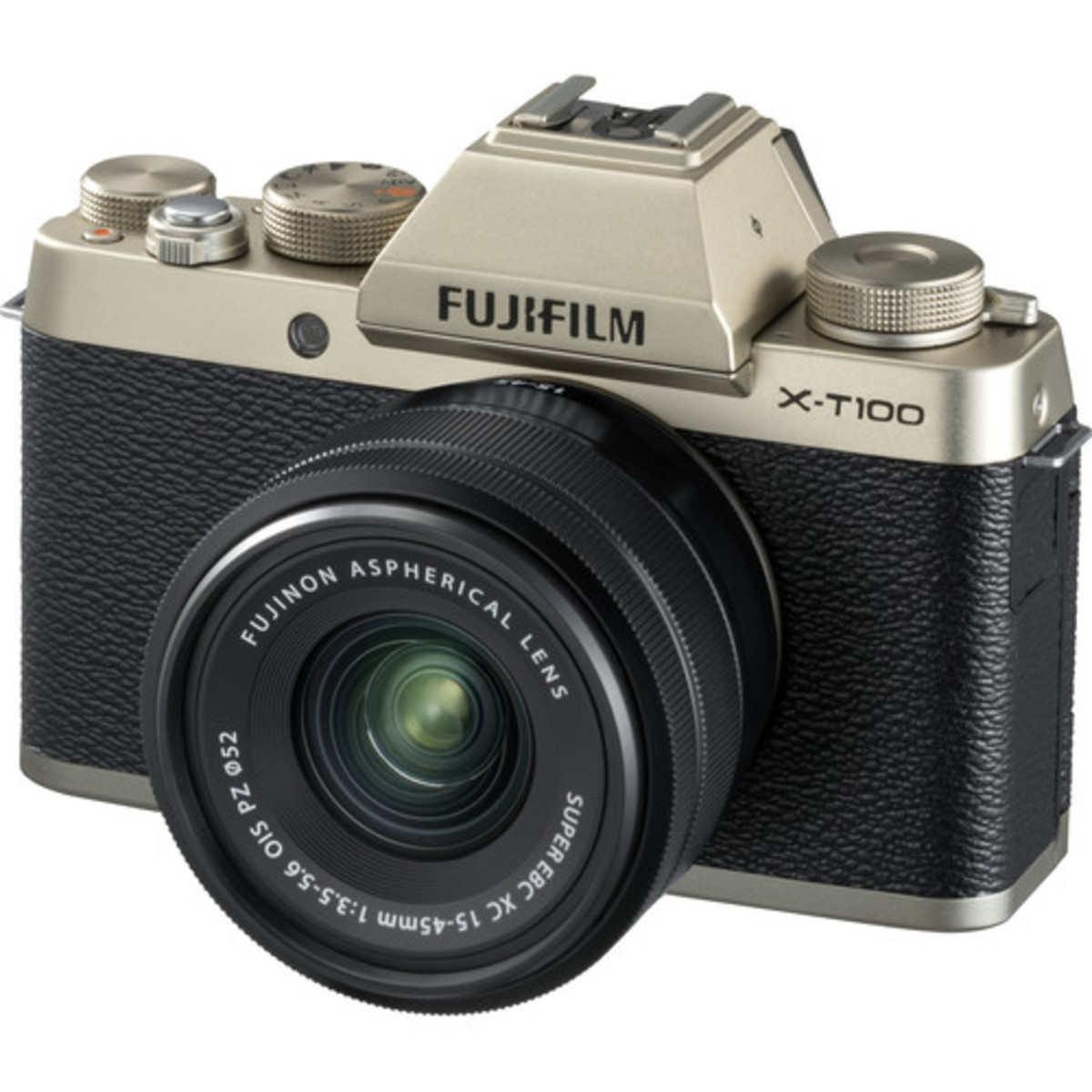 X-T100 Mirrorless Digital Camera with 15-45mm Lens - [Champagne Gold]