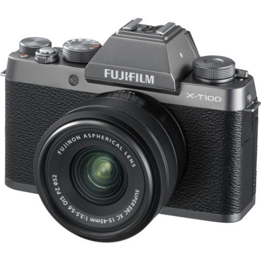X-T100 Mirrorless Digital Camera with 15-45mm Lens - [深銀色] (平行進口)