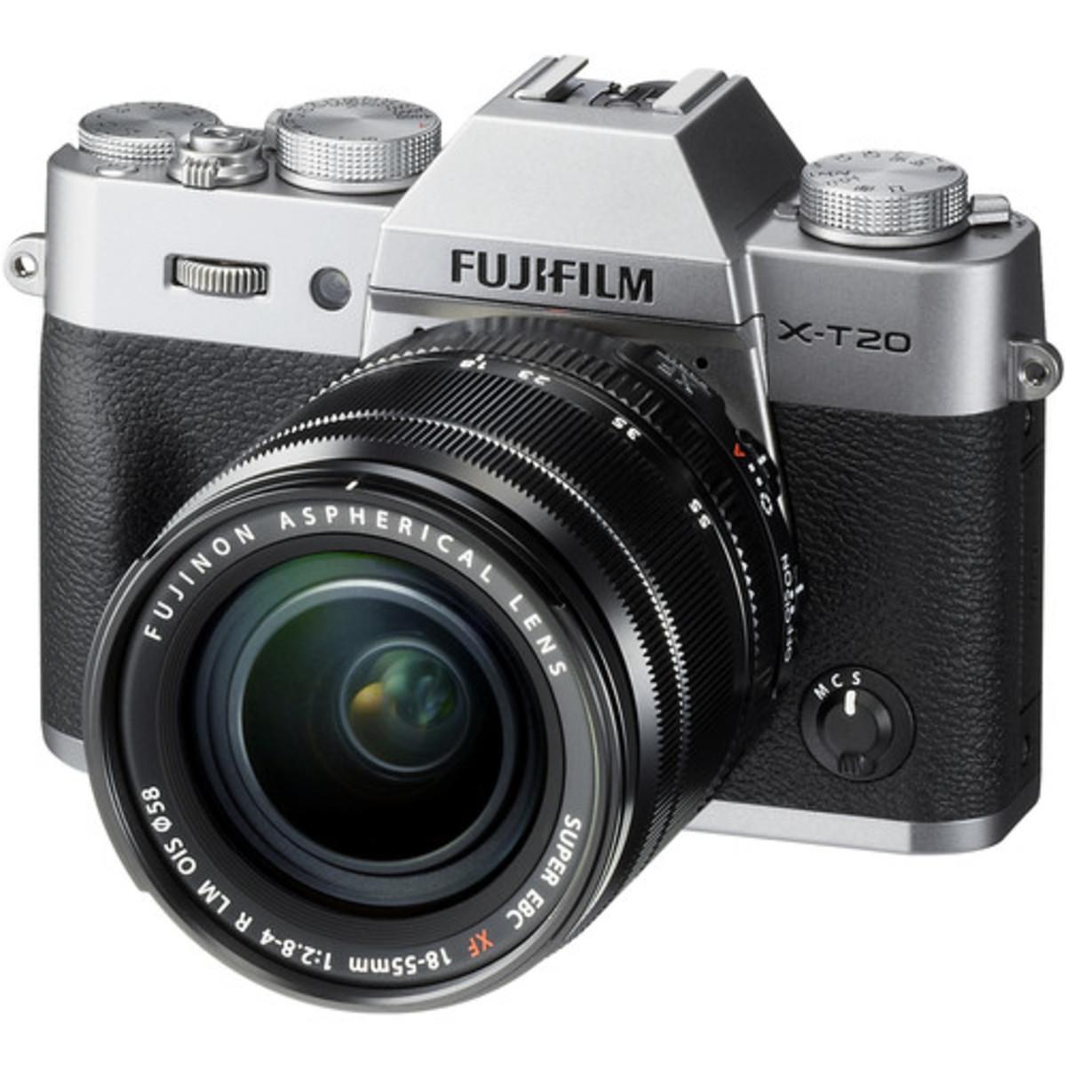 Fujifilm X-T20 Mirrorless Digital Camera with XF 18-55mm Lens - [銀色] (平行進口)