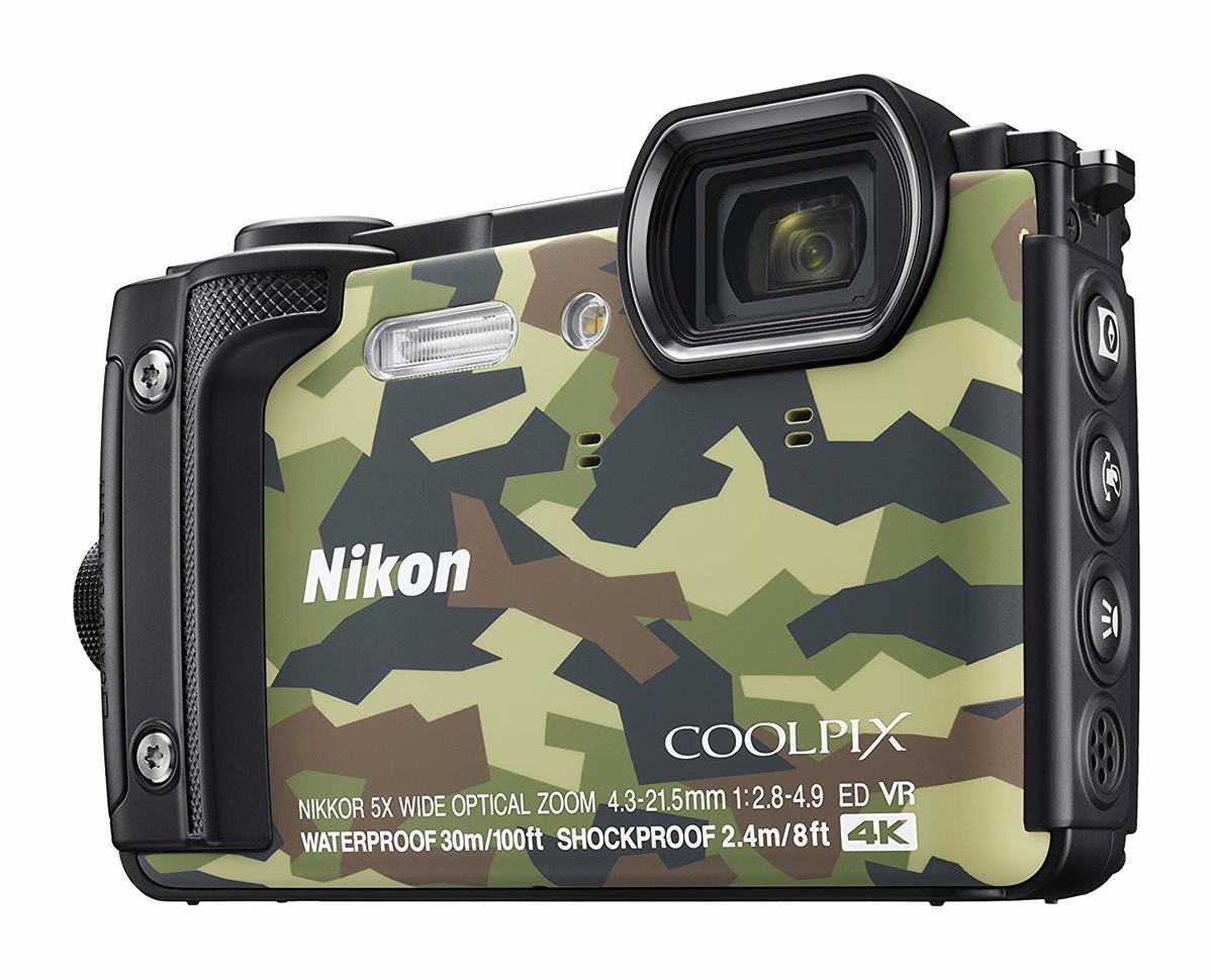 COOLPIX W300 Digital Camera - [迷彩色] (平行進口)