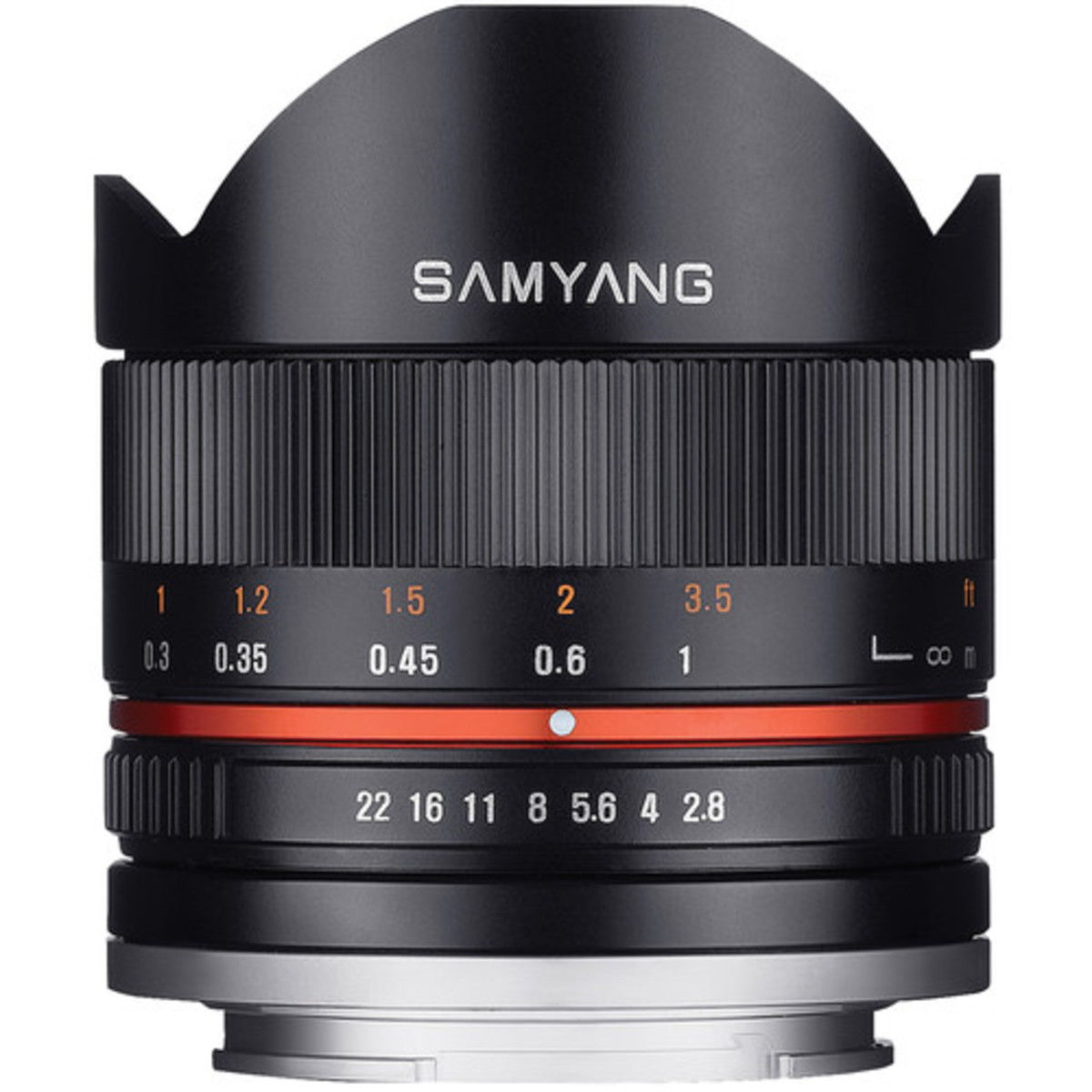 Samyang 8mm f/2.8 Fisheye II Lens - [For Fujifilm X Mount, Black] (Parallel imported)