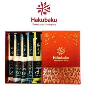HAKUBAKU 日本Hakubaku 有機麵5包禮盒
