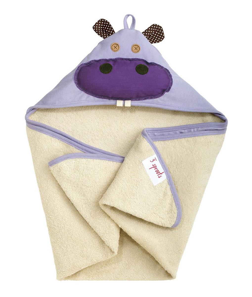 連帽浴巾 - 小海象