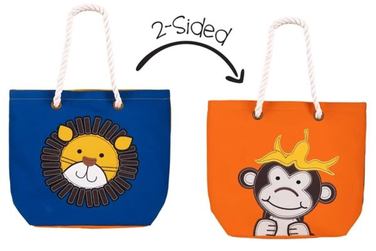 2-Sided Tote - Lion | Monkey