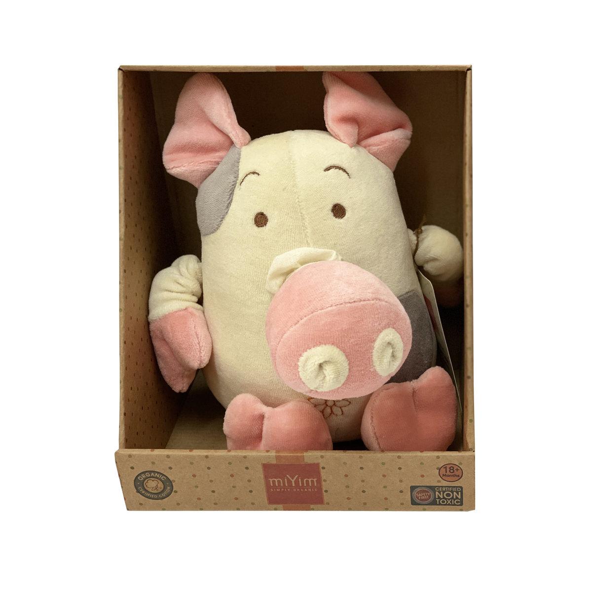 有機棉震動娃娃 - 小豬