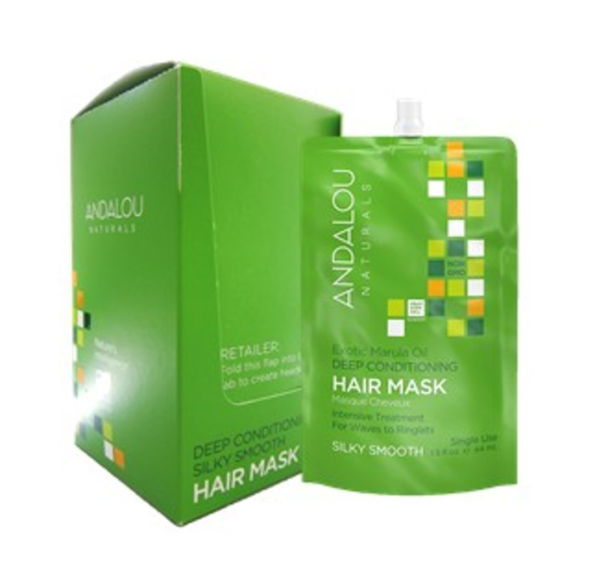 Andalou Exotic Marula Oil Silky Smooth Hair Mask ( set of 6)