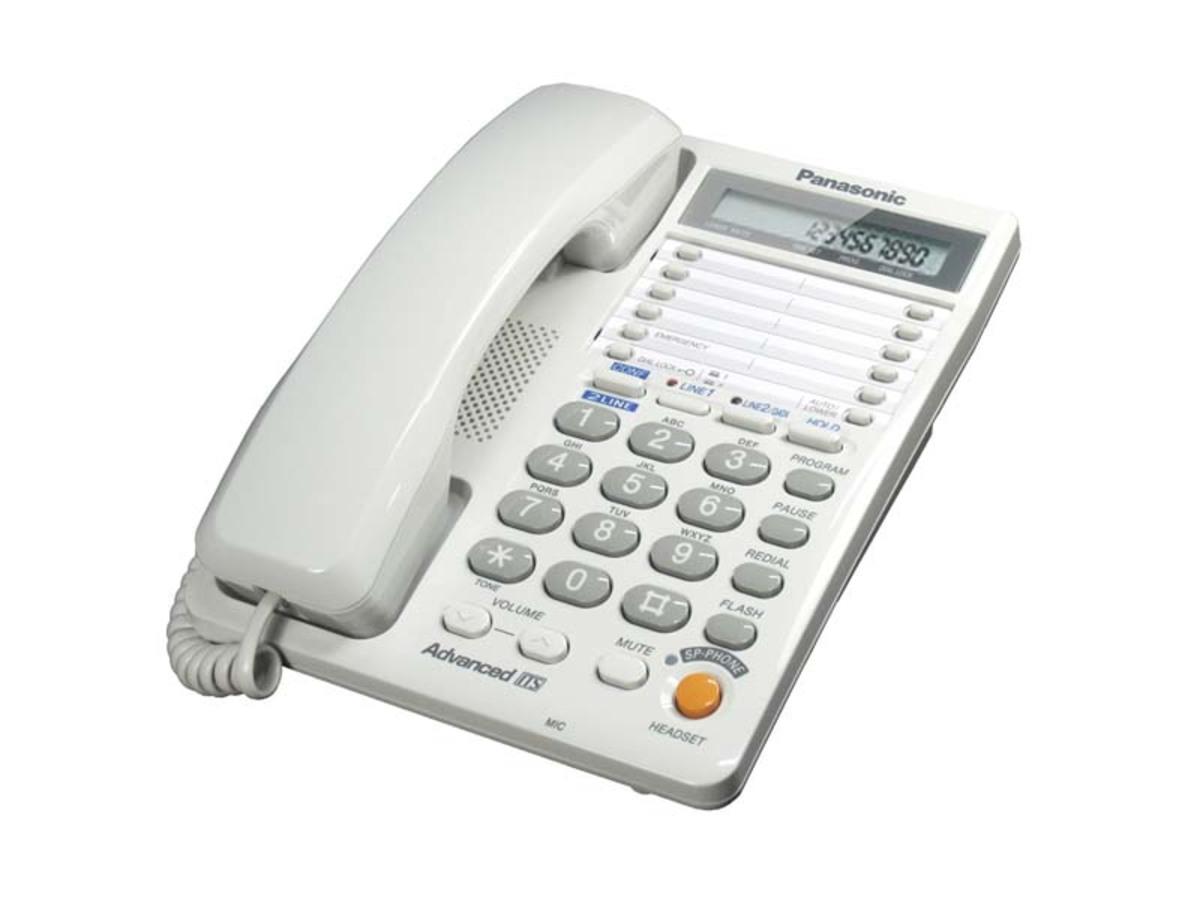 KX-T2378 室內有線電話-白色