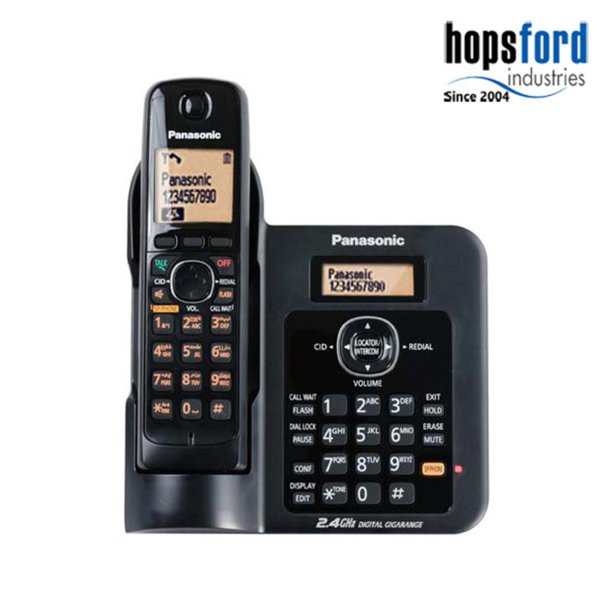 2.4GHz Cordless Phone KX-TG3811 Black - Parallel import