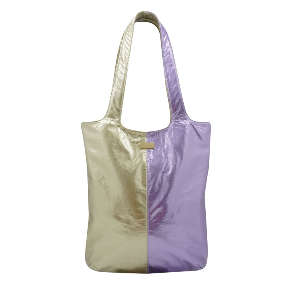 Two Zone color Metallic Tote Bag