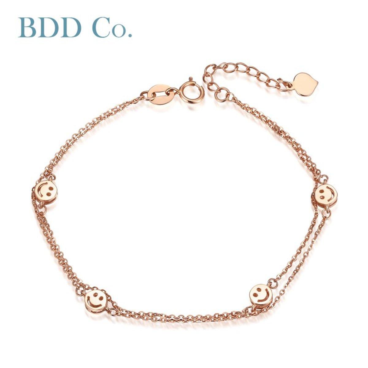 18k Rose Gold Women Bracelet (Smlie)