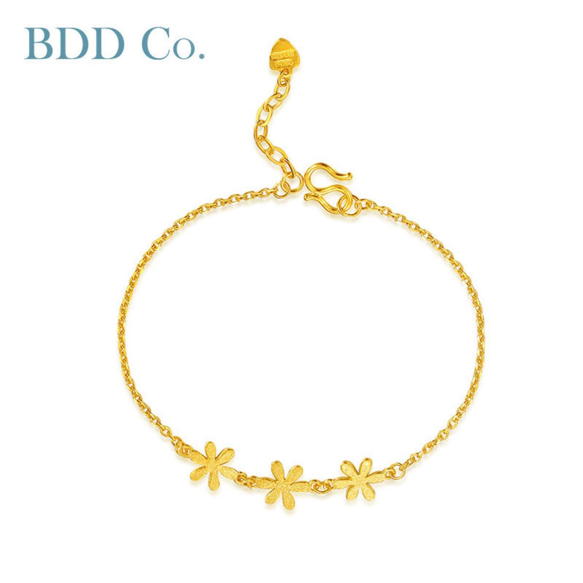 Au9999 Gold Women Bracelet