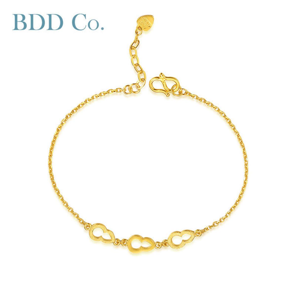 【BDD-Co.】黃金手鏈 足金金葫蘆手鏈18cm