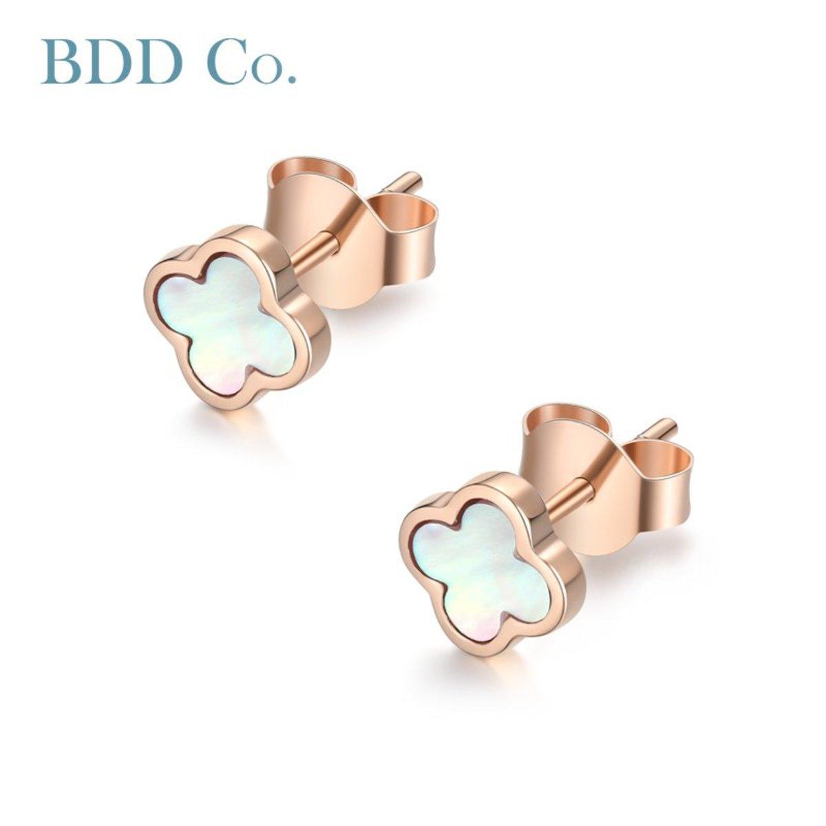 18k Rose Gold Women Earring Studs
