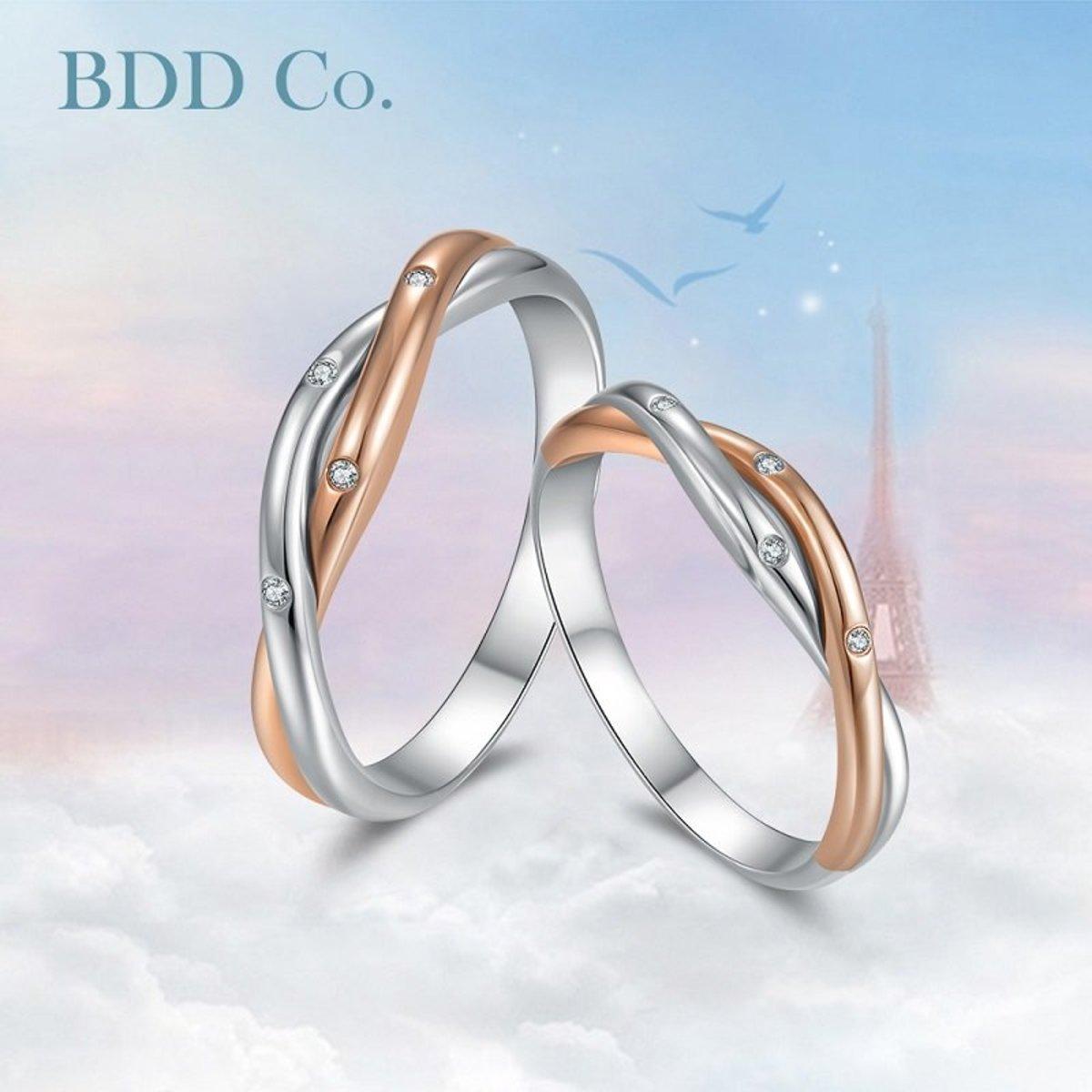 【BDD-Co.】18k鑽石情侶男戒 荊棘之愛