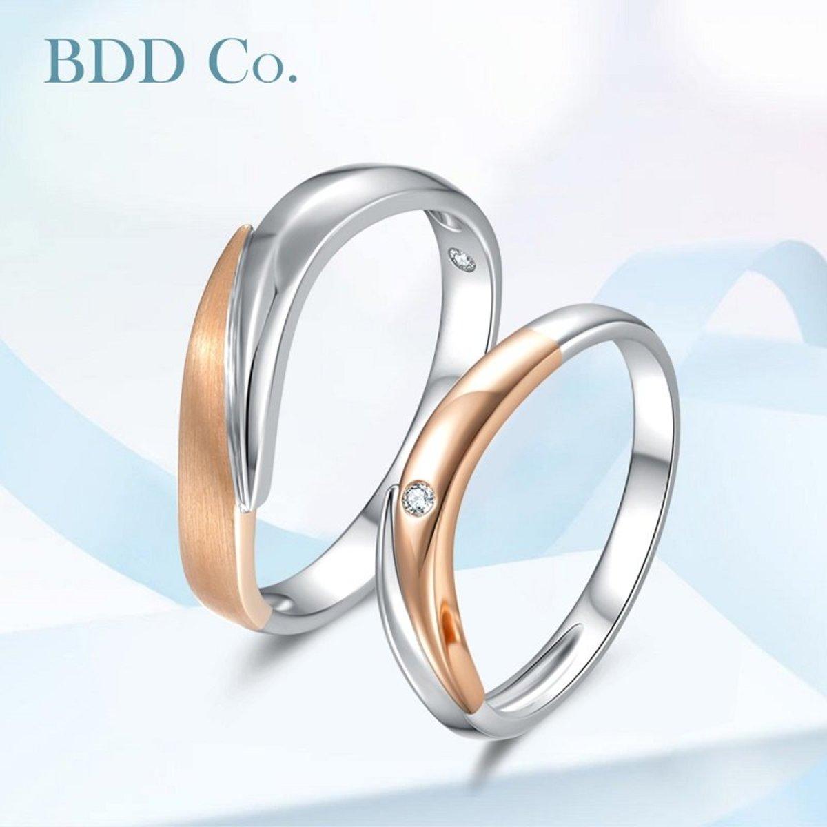 【BDD-Co.】18k鑽石情侶女戒 交織的愛